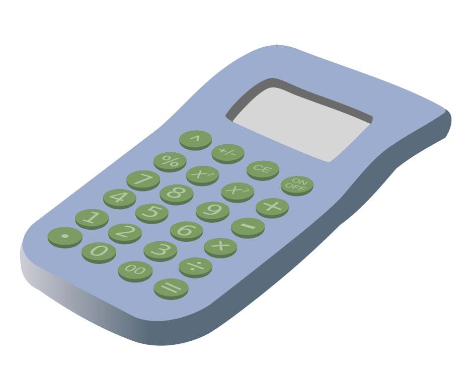 Drawing of a calculator