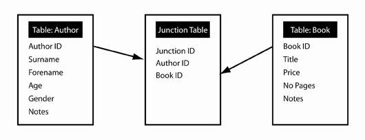 Designing databases for historical research d3 types of relationship to overcome the many to many relationship we would insert a junction table to spit the relationship into two one to many relationships as indicated in ccuart Gallery