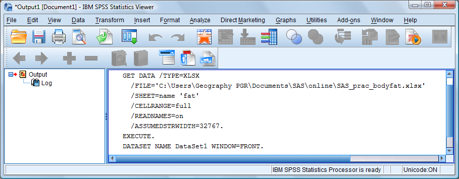 Exercise 1: Getting Started with SPSS